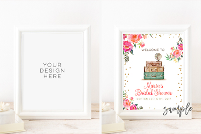 Digital print mockup, 8x10 DIGITAL White Frame Mockup, 16x20 24x30 Vertical DIGITAL WHITE Frame Mock up, Styled stock photography Wedding