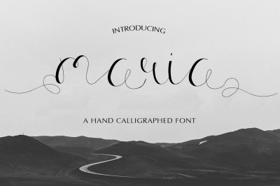 Maria Calligraphy Font