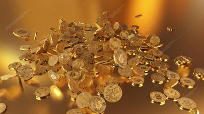 3D rendering Bitcoin