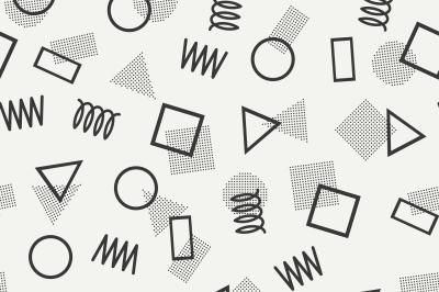 Memphis Jumble Geometric Pattern