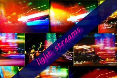 8 files abstract backgrounds from light streams