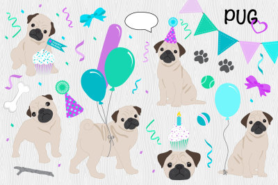 Puppy Love Birthday Pack - PUG