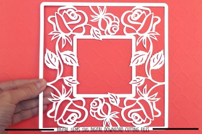 Rose Frame SVG / DXF / EPS Files