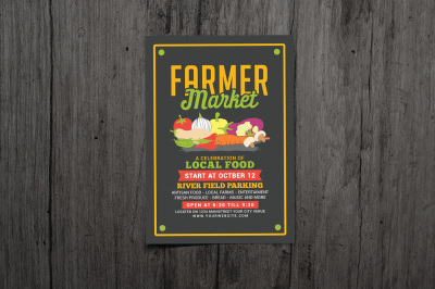 Farmer Food Market Flyer