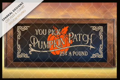 Pumpkin Patch You Pick ~ Cutting File