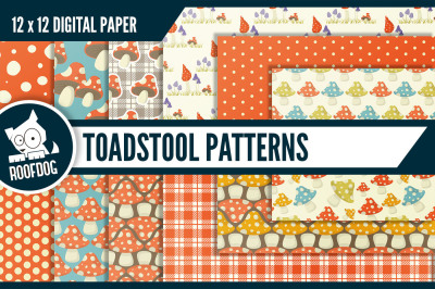 Toadstool digital paper | Fall colors (Autumn)