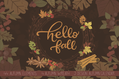 Hello Fall. Autumn set