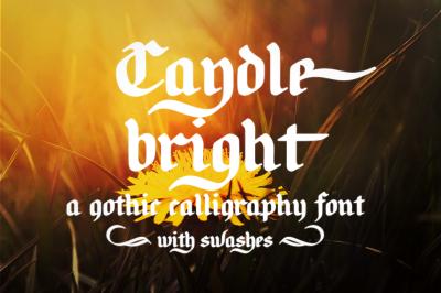 Candlebright | a blackletter font