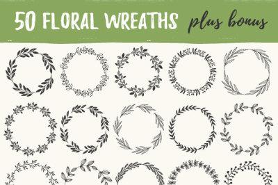50 Flourish wreaths