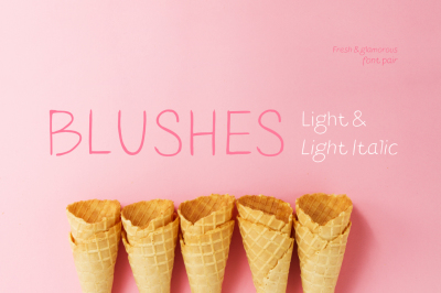 Blushes — Light & Light Italic