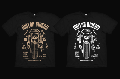 Motorcycle Riders T-Shirt Design Template