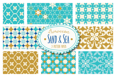 Moroccan Sand & Sea Patterns - Vector