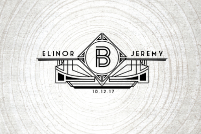 Art Deco Wedding Logo