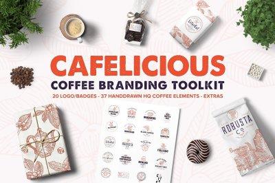 Cafelicious - Coffee Logo Kit