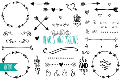 Hearts & Arrows - Vector & PNG