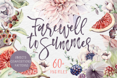FAREWELL TO SUMMER watercolor set