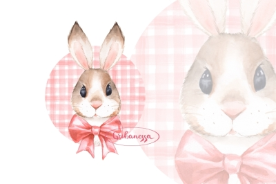 Bunny. Red bow