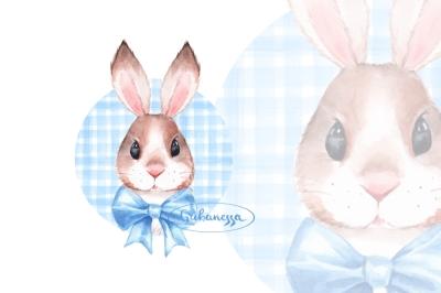 Bunny. Blue bow