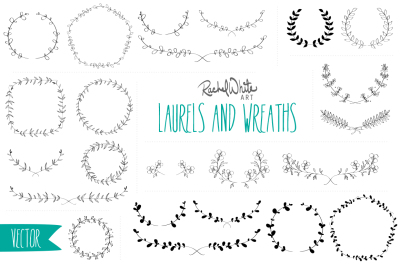 Laurels & Wreaths - Vectors & PNGs