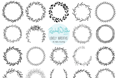 Lovely Wreaths, Vector & PNG