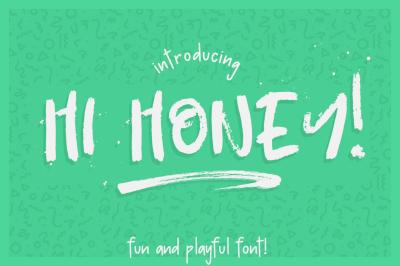 Hi Honey! - Dry marker font