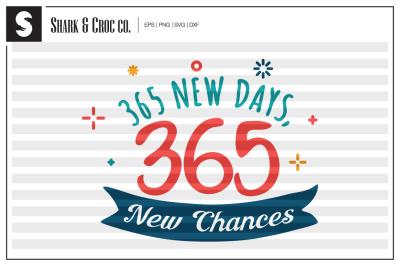 '365 New Days, 365 New Chances' cut file