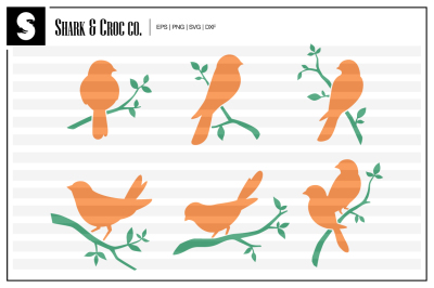 'Birds On Branches' cut files