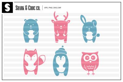 'Cute Animals' cut files