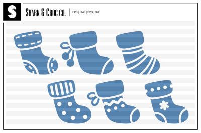 'Cute Winter Stockings' cut files