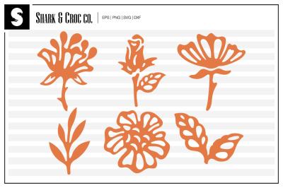 'Florals' cut files