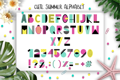 Cute Summer Alphabet