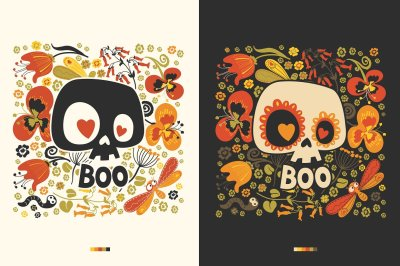 Day of the Dead festive decoration. by FoxyImage in Graphics  Illustrations