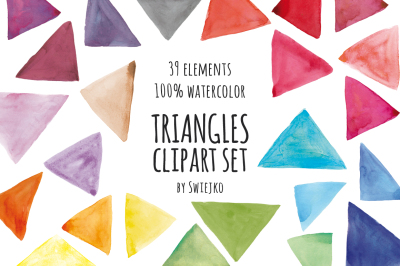 Watercolor triangles