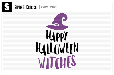 'Happy Halloween Witches' cut file
