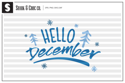 'Hello December' cut file