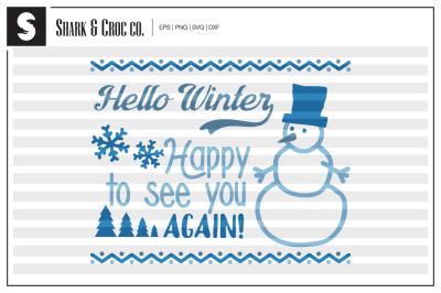 'Hello Winter' cut file