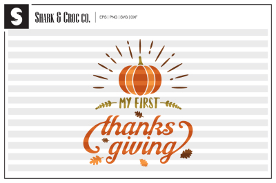 'My First Thanksgiving' cut file
