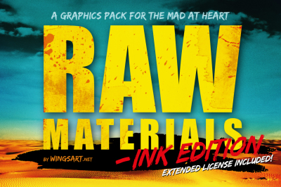 Raw Materials: Ink Edition - Vector Textures and Illustrations