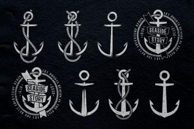 Anchor nautical logo templates