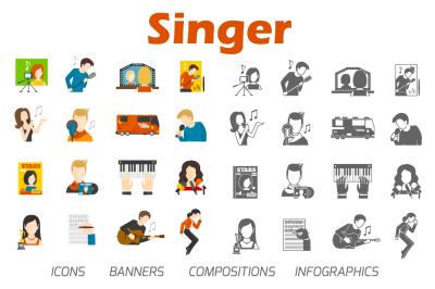 Singer flat set