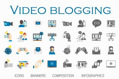 Video blogging set