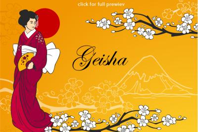 Geisha flat set