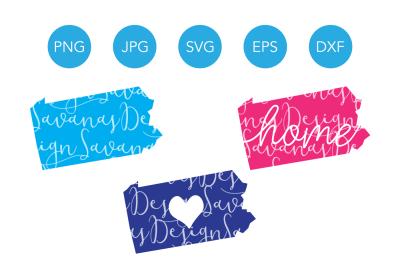 Pennsylvania SVG Files, Pennsylvania SVG Design, Svg Pennsylvania, Pennsylvania Clipart, Pennsylvania Cut File, Pennsylvania DXF