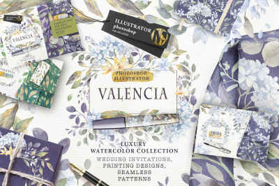 «VALENCIA» luxury watercolor collection