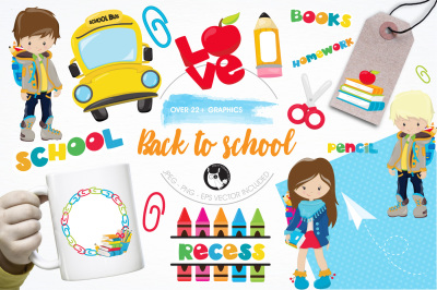 Back to school illustrations and graphics