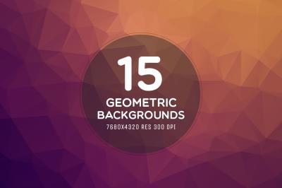 15 Ultra HD 8K Geometric Backgrounds