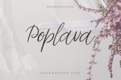 Poplava. Handwritten Font.