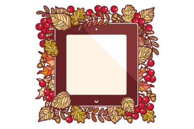 Autumn frame. Fall. Autumn background.