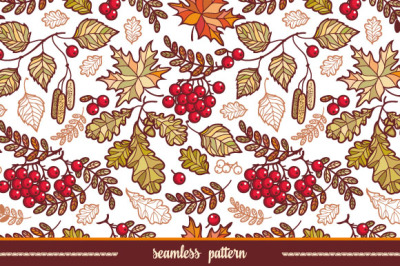 Autumn leaves. Seamless pattern. Fall