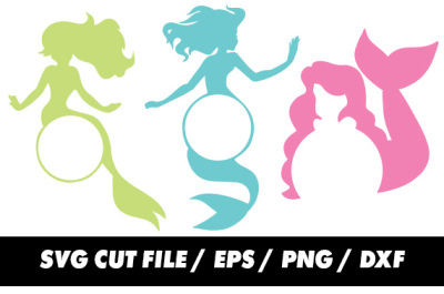 Mermaid SVG for Silhouette and Cricut